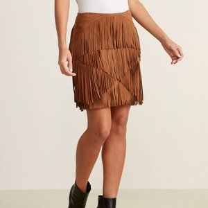 Firm Price🌼NWT Fringe Suede Skirt - 0